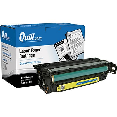 Quill Brand Remanufactured HP 504A (CE252A) Yellow Laser Toner Cartridge (100% Satisfaction Guaranteed)