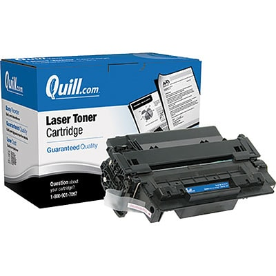Quill Brand Remanufactured HP 55X (CE255X) Black High Yield Laser Toner Cartridge (100% Satisfaction Guaranteed)