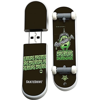EP Memory® Skateboard Flash Drive; 16GB, Creature SkateHorde