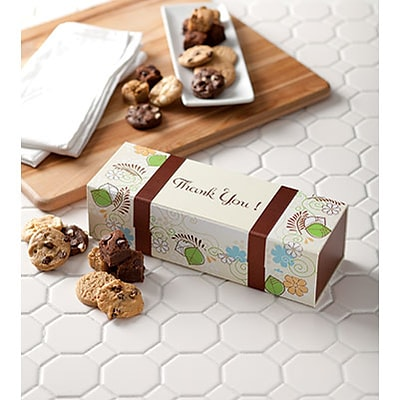 Mrs. Fields® Special Occasion Cookie Gifts; Thank You Box with 18 Assorted Bite-Sized Nibblers®