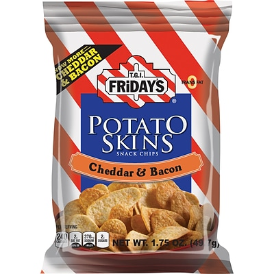 TGI Fridays® Cheddar & Bacon Potato Skins; 1.75-oz., 55 Bags/Case