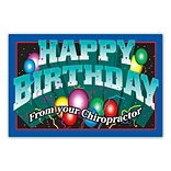 Medical Arts Press® Chiropractic Standard 4x6 Postcards; Happy Birthday from your Chiropractor
