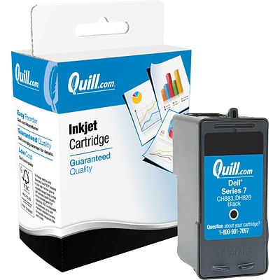 Quill Brand Remanufactured High Yield Inkjet Cartridge for Dell™ CH883 Black (100% Satisfaction Guaranteed)