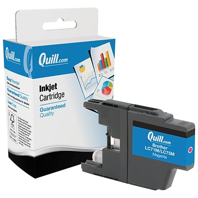 Quill Brand Remanufactured Brother® LC75M Inkjet Cartridge High Yield Magenta (100% Satisfaction Guaranteed)