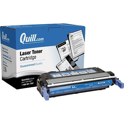 Quill Brand Remanufactured HP 642A (CB401A) Cyan Laser Toner Cartridge (100% Satisfaction Guaranteed)