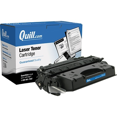 Quill Brand Remanufactured HP 05X (CE505X) Black High Yield Laser Toner Cartridge (100% Satisfaction Guaranteed)