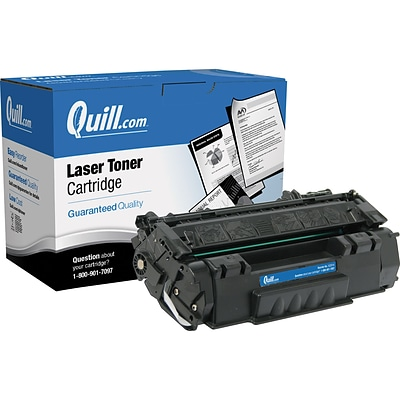 Quill Brand Remanufactured HP 53A (Q7553A) Black Laser Toner Cartridge (100% Satisfaction Guaranteed)