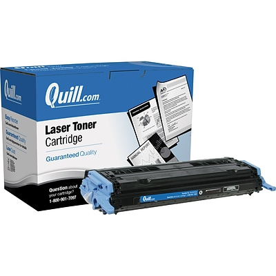 Quill Brand Remanufactured HP 124A (Q6000A) Black Laser Toner Cartridge (100% Satisfaction Guaranteed)
