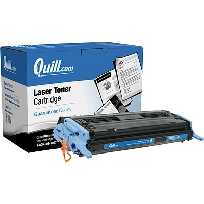 Quill Brand Remanufactured HP 124A (Q6001A) Cyan Laser Toner Cartridge (100% Satisfaction Guaranteed)