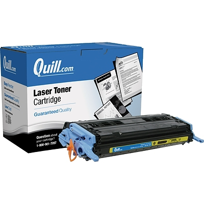 Quill Brand Remanufactured HP 124A (Q6002A) Yellow Laser Toner Cartridge (100% Satisfaction Guaranteed)