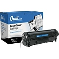Quill Brand Remanufactured HP 12A (Q2612A) Black Laser Toner Cartridge (100% Satisfaction Guaranteed