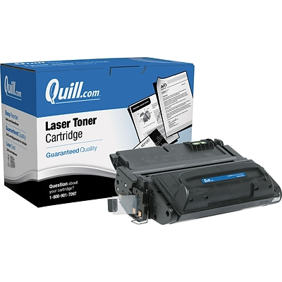 Quill Brand® Remanufactured HP 42X Black High Yield Laser Toner Cartridge  (Q5942X) (Lifetime Warranty)