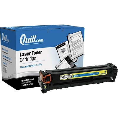 Quill Brand Remanufactured HP 125A (CB542A) Yellow Laser Toner Cartridge (100% Satisfaction Guaranteed)
