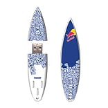 EP Memory® Surfboard Flash Drive, 16GB, Red Bull Blue Text