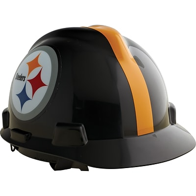 MSA Safety® NFL V-Gard® Helmets; Pittsburgh Steelers Logo, Staz-On