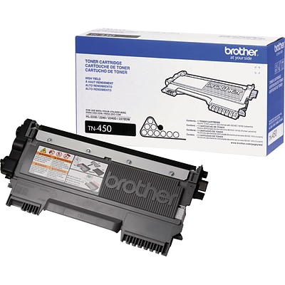 Quill Exclusive 3-Pack: Brother Genuine TN450 Black High Yield Original Laser Toner Cartridge  ($53.99 each)