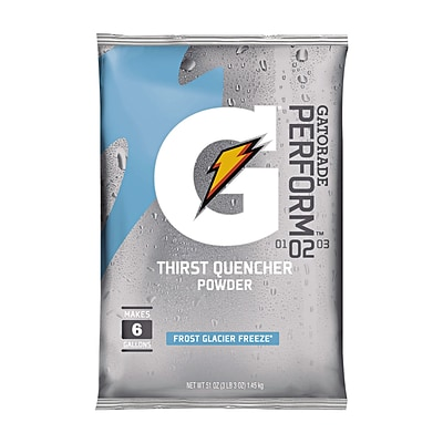 Gatorade® Perform™ Thirst Quencher Powder, Frost Glacier Freeze, 51-oz., Yields 6 Gallons, 14/Case