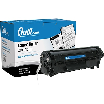 Quill Brand® HP 12 Remanufactured Black Laser Toner Cartridge, Extra High Yield (Q2612A) (Lifetime Warranty)