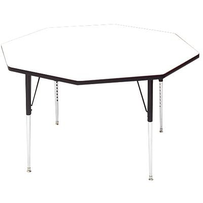 Correll® 48 Octagonal Heavy Duty Activity Table; White High Pressure Laminate Top