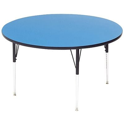 Correll® 36 Round Heavy Duty Activity Table; Blue High Pressure Laminate Top