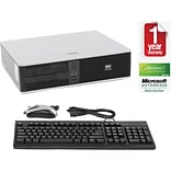 HP DC7800 Refurbished Desktop PC; Core 2 Duo, 2.8GHz, 4GB RAM, 160GB HD, DVDRW, Win 10 Home Prem