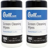 Buy a 2 Pack of Quill Brand® Screen/Monitor Cleaning Wipes for $18.99