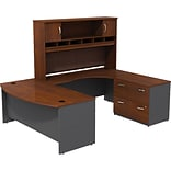 Westfield 72W U-Workstation w File and Hutch