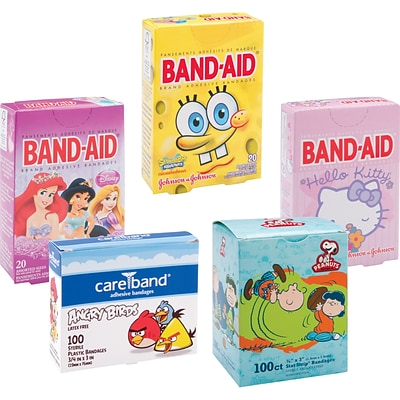 Character Adhesive Bandage Assortment, 315 PCS