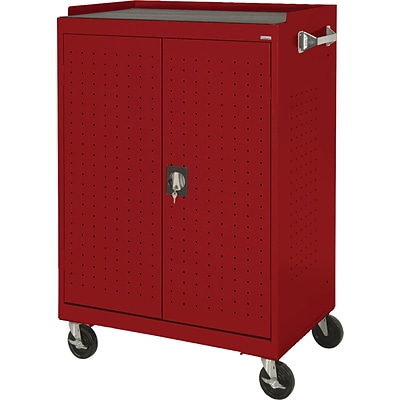 Sandusky Mobile Laptop Security Cabinet; Red, 52Hx36Wx24D