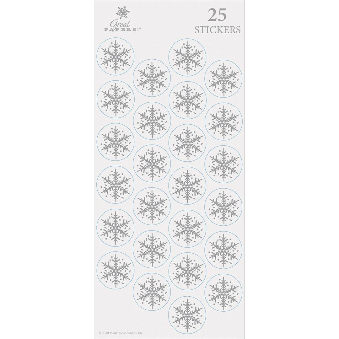 Silver Foil Flakes Envelope Seals | Quill.com