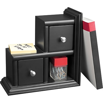 Victor® Wooden Desktop Reversible Bookend; Midnight Black