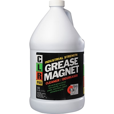 CLR Professional Cleaners; Grease Magnet Cleaner/Degreaser, 1-Gallon Bottle, 4 Bottles/Carton