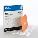 Quill Brand® Laser Address Labels, 1 x 2-5/8, White, 30 Labels/Sheet, 125 Sheets/Box (710786DL)