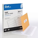 Quill® 1x4 White Labels; 5000/Box