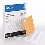 Quill Brand® Laser Address Labels, 1/2 x 1-3/4, White, 80 Labels/Sheet, 100 Sheets/Box (710796)