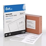 Quill Brand® Multipurpose Laser/Inkjet Labels, 3-1/3 x 4, White, 6 Labels/Sheet, 100 Sheets/Box (7