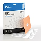 Quill Brand® InkJet Address Labels, 1 x 2-5/8, White, 750 Labels Per Box (732100Q)