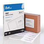 Quill® InkJet Address Labels; White, 3-1/3x4, 600 Labels, Comparable to Avery 8164