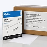 Quill Brand® InkJet Address Labels, 8-1/2 x 11, White, 100 Labels Per Box (732210)