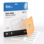 Quill Brand® InkJet Address Labels, 2 x 4, Clear, 250 Labels Per Box (733105)
