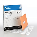 Quill Brand® Laser/InkJet Address Labels, 1 x 2-5/8, White, 3000 Labels Per Box (720252)