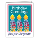 Medical Arts Press® Chiropractic Birthday Cards; Happy Birthday Flower,  Blank Inside