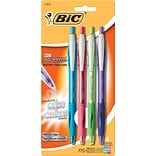 BIC® Atlantis® Retractable Ballpoint Pens; Medium, Assorted, 4/Pk