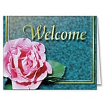 Medical Arts Press® Floral Expressions Note Cards; Welcome, Blank Inside