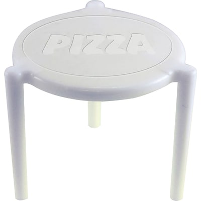 Pizza Lid Support; Plastic, 1, White, 1000/Case