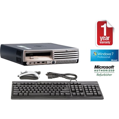 HP DC7700 Refurbished Ultra Small Form Factor Desktop PC; 2GB, Windows 7 Professional