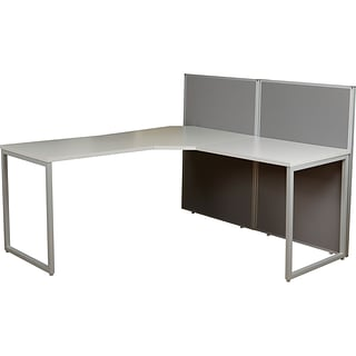 Office Star L-Shaped Desk w 2 Panels