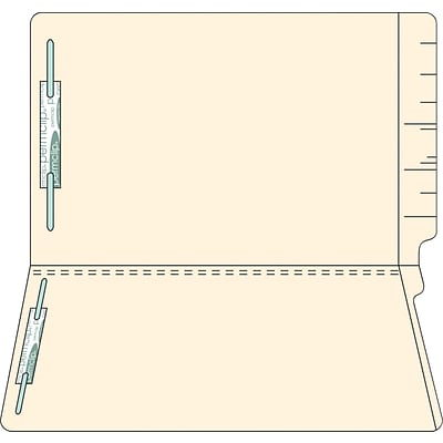 Medical Arts Press® 11Pt. Full-Cut End-Tab File Folders; 2 Fasteners, Legal Size, 50/Box