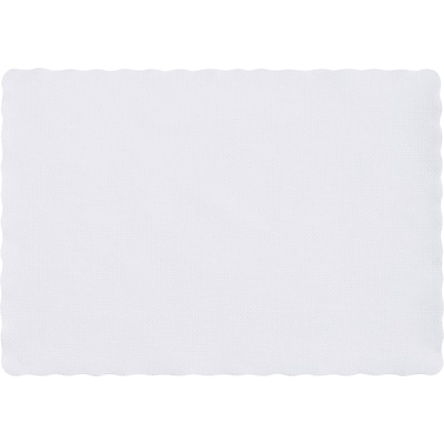 Hoffmaster® Placemats; Scalloped Edge, White, 9-1/2W x 13-1/2L, 1000/Pack