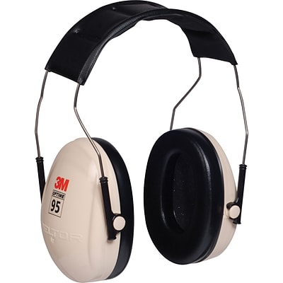 3M™ Peltor™ Optime™ Over-the-Head Low Profile Folding Ear Muffs; White, 95 dB